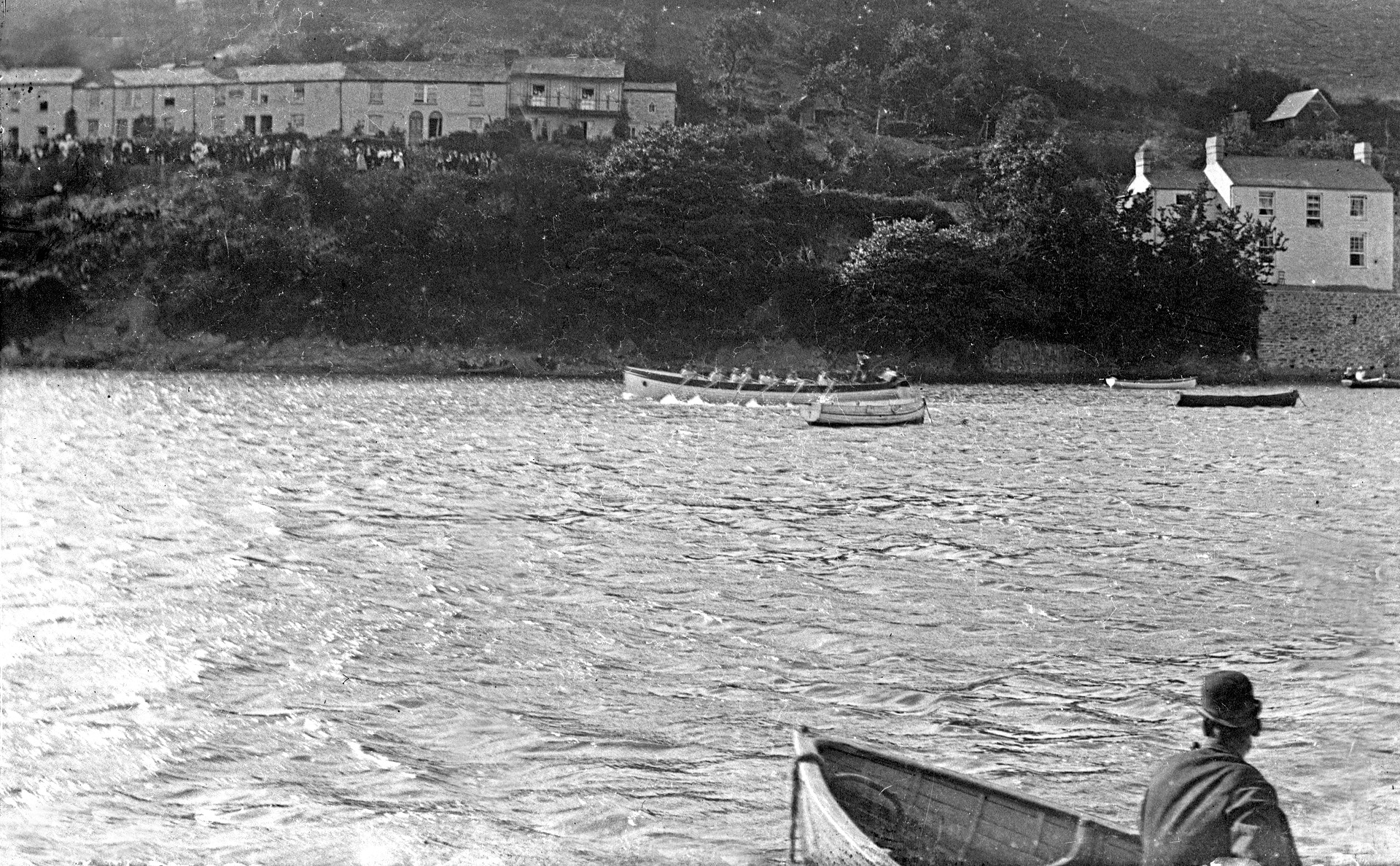 Regatta on the river in historic Malpas